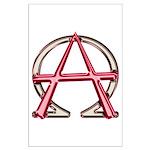 Alpha & Omega Anarchy Symbol Large Poster