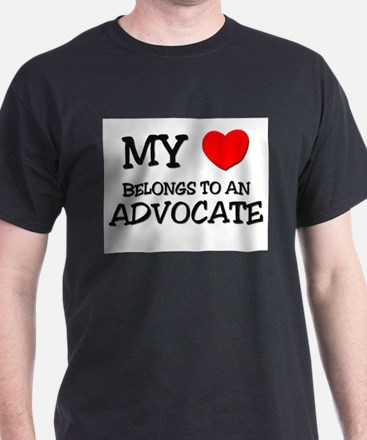 My Heart Belongs To An ADVOCATE T-Shirt