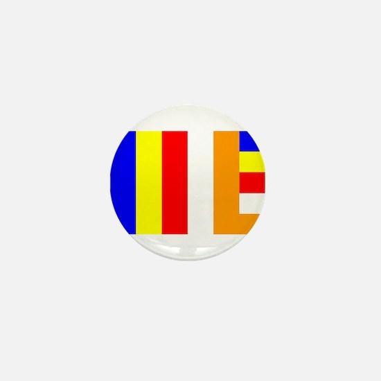 Buddhist Flag Mini Button