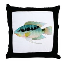 Flag (Festivus) cichlid Throw Pillow