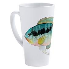 Flag (Festivus) cichlid 17 oz Latte Mug
