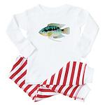 Flag (Festivus) cichlid Baby Pajamas