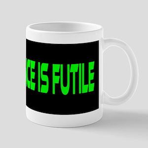 Resistance Is Futile Bumper Sticker Mugs