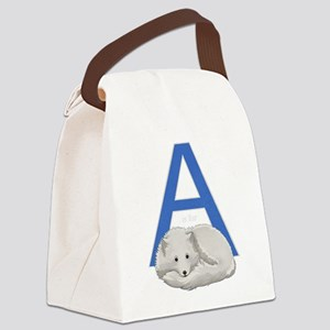 A is for Arctic Fox Canvas Lunch Bag