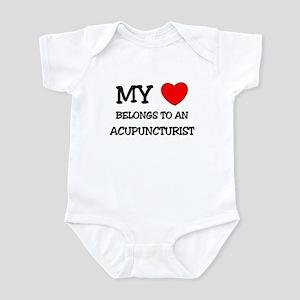 My Heart Belongs To An ACUPUNCTURIST Infant Bodysu