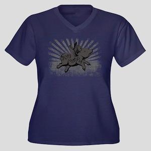 2019 Year Pi Women's Plus Size V-Neck Dark T-Shirt