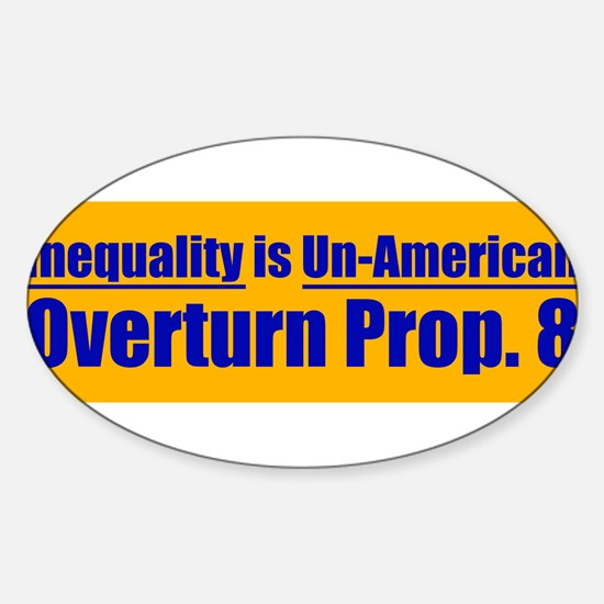 Overturn Prop 8 Oval Decal