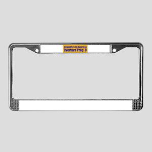 Overturn Prop 8 License Plate Frame