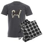 Alaskan Malamute Men's Charcoal Pajamas