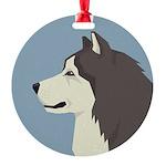Alaskan Malamute Profile Ornament