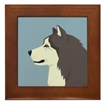 Alaskan Malamute Profile Framed Tile