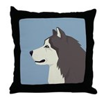Alaskan Malamute Profile Throw Pillow