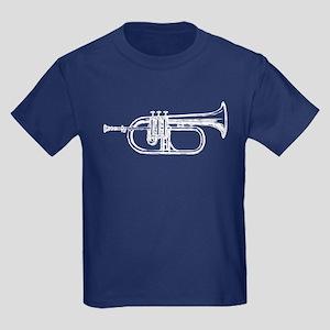 White Trumpet Kids Dark T-Shirt