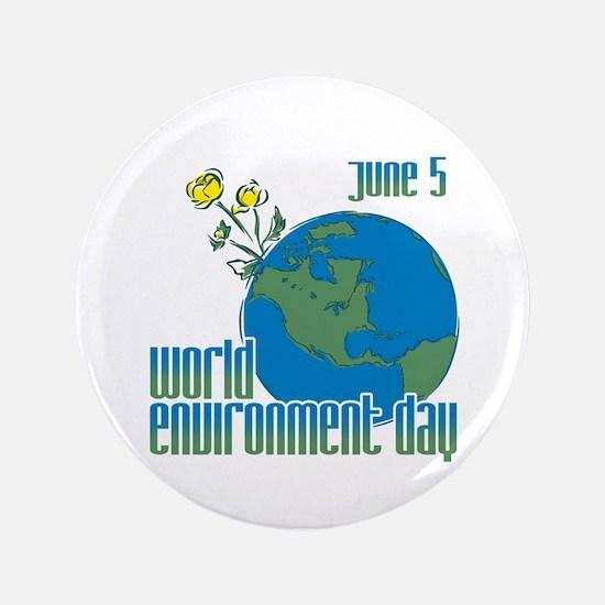 "June 5: World Environment Day 3.5"" Button"