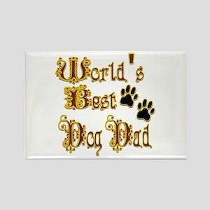 Best Dog Dad Rectangle Magnet