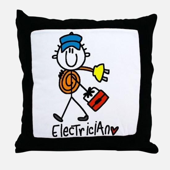 Basic Electrician Throw Pillow