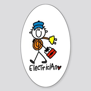 Basic Electrician Oval Sticker