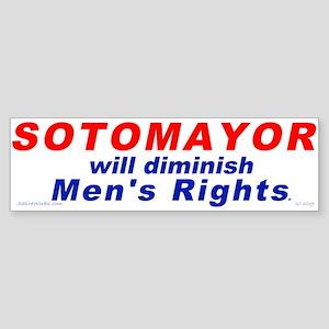 Sotomayor against men (Bumper Sticker)