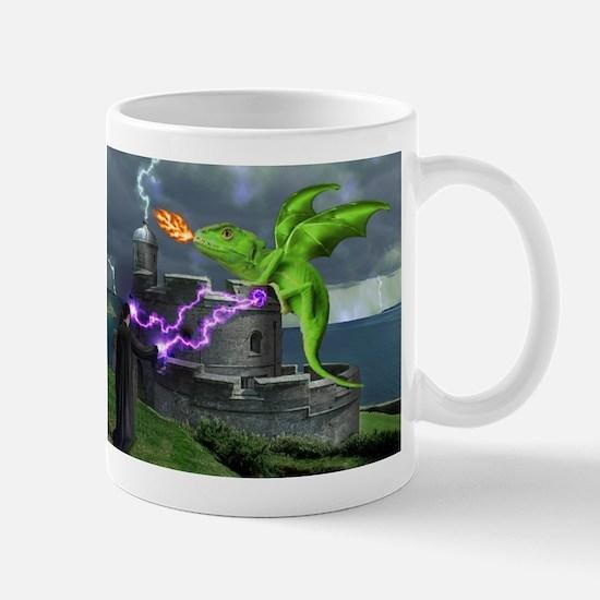 Cute Dragon on castle Mug
