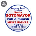 "Sotomayor diminish men 3.5"" Button (10 pack)"