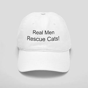 Real Men Rescue Cats! Baseball Cap