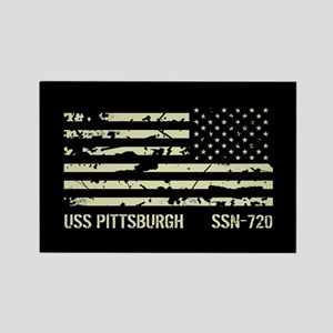 USS Pittsburgh Rectangle Magnet