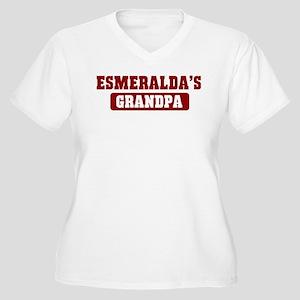 Esmeraldas Grandpa Women's Plus Size V-Neck T-Shir
