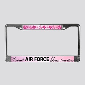 Proud Air Force Grandmother License Plate Frame
