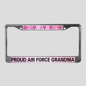 Proud Air Force Grandma License Plate Frame