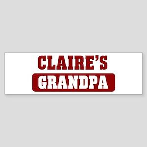 Claires Grandpa Bumper Sticker