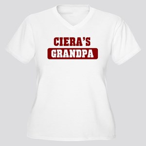 Cieras Grandpa Women's Plus Size V-Neck T-Shirt