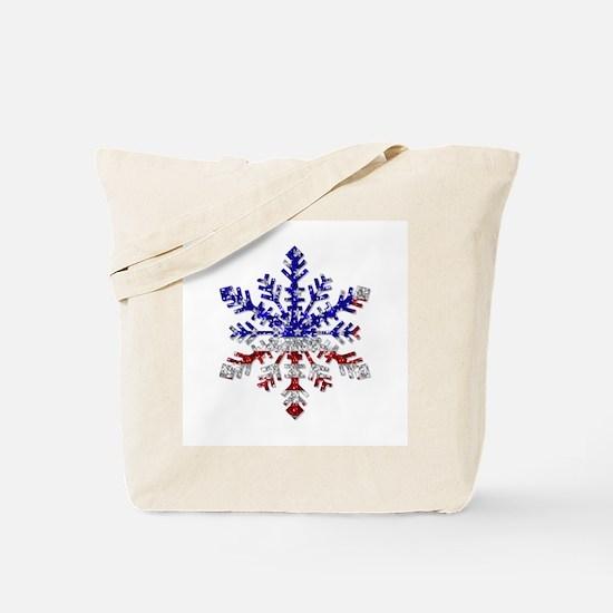 USA Snowflake Tote Bag