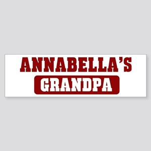 Annabellas Grandpa Bumper Sticker