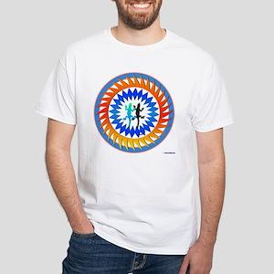 Tribal Sun Lizard White T-Shirt