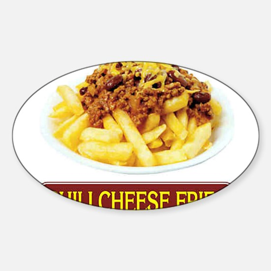 Chilli Cheese Fries Oval Decal