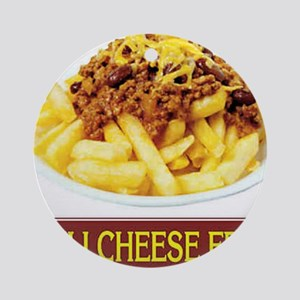 Chilli Cheese Fries Ornament (Round)