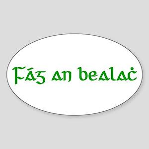 Fág An Bealach Oval Sticker