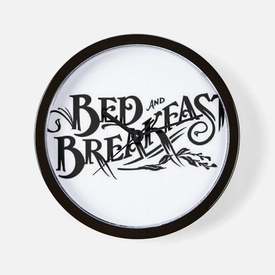 Bed & Breakfast Wall Clock
