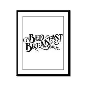 Bed & Breakfast Framed Panel Print