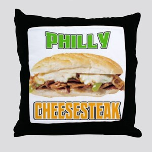 Philly CheeseSteak Throw Pillow