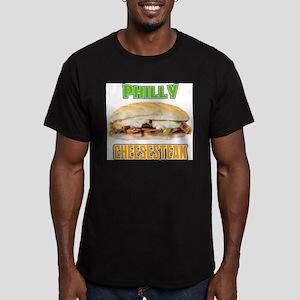 Philly CheeseSteak Men's Fitted T-Shirt (dark)