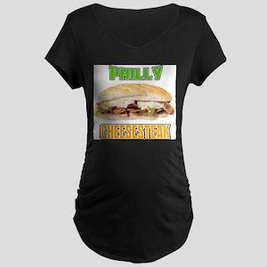 Philly CheeseSteak Maternity Dark T-Shirt