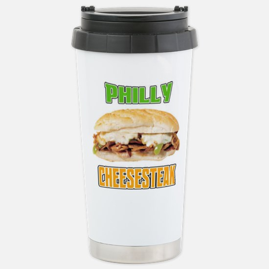 Philly CheeseSteak Stainless Steel Travel Mug
