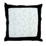 Boomerang Mint Throw Pillow