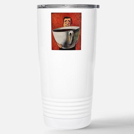 Vintage Coffee Stainless Steel Travel Mug
