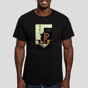 Vintage Coffee Men's Fitted T-Shirt (dark)
