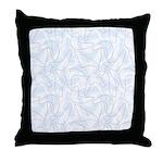 Boomerang Lt Blue Throw Pillow