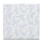Boomerang Lt Blue Tile Coaster