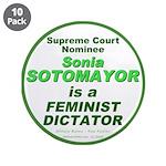 "Sotomayor Feminist 3.5"" Button (10 pack)"