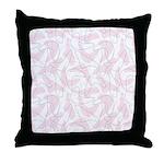 Boomerang Pink Throw Pillow